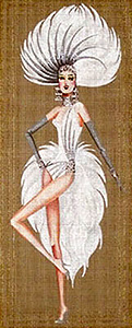 Leigh Designs - Hand-painted Needlepoint Canvases - Showgirls - Jubilee