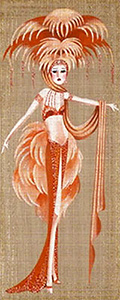 Leigh Designs - Hand-painted Needlepoint Canvases - Showgirls - Ziegfield