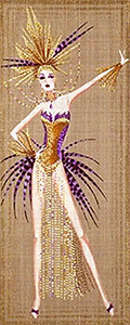 Leigh Designs - Hand-painted Needlepoint Canvases - Showgirls - Follies