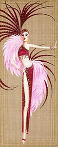 Leigh Designs - Hand-painted Needlepoint Canvases - Showgirls - Bergere