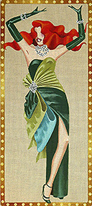 Leigh Designs - Hand-painted Needlepoint Canvases - Femme Fatale Collection - Delilah