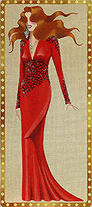 Leigh Designs - Hand-painted Needlepoint Canvases - Femme Fatale Collection - Tallulah