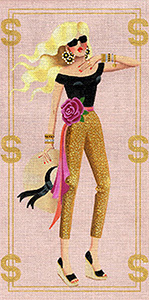 Leigh Designs - Hand-painted Needlepoint Canvases - Gold Diggers - Hollywood
