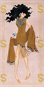 Leigh Designs - Hand-painted Needlepoint Canvases - Gold Diggers - Scottsdale