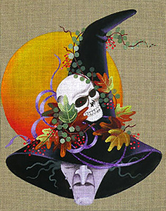 Leigh Designs - Hand-painted Needlepoint Canvases - Wicked Witches - Elfrida
