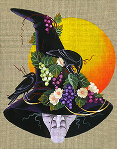 Leigh Designs - Hand-painted Needlepoint Canvases - Wicked Witches - Emeranne