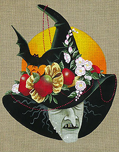 Leigh Designs - Hand-painted Needlepoint Canvases - Wicked Witches - Chiron