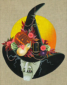 Leigh Designs - Hand-painted Needlepoint Canvases - Wicked Witches - Carrow