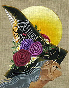 Leigh Designs - Hand-painted Needlepoint Canvases - Wicked Witches - Galldora