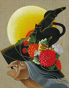 Leigh Designs - Hand-painted Needlepoint Canvases - Wicked Witches - Gassandra