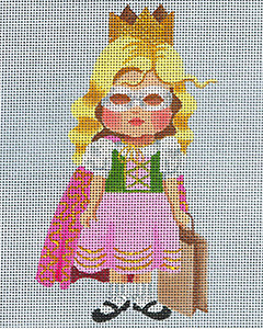 Leigh Designs - Hand-painted Needlepoint Canvases - Lil' Goblins - Katie