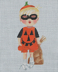 Leigh Designs - Hand-painted Needlepoint Canvases - Lil' Goblins - Jimmy