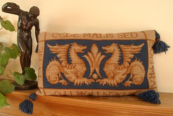 William de Morgan's Sand's End Griffins Cushion Kit