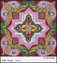 Leigh Designs - Hand-painted Needlepoint Canvases - Tangiers Collection - Shella Canvas