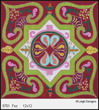 Leigh Designs - Hand-painted Needlepoint Canvases - Tangiers Collection - Fez Canvas
