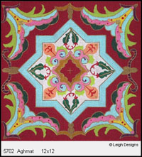 Leigh Designs - Hand-painted Needlepoint Canvases - Tangiers Collection - Aghmat Canvas