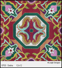 Leigh Designs - Hand-painted Needlepoint Canvases - Tangiers Collection - Sebta Canvas