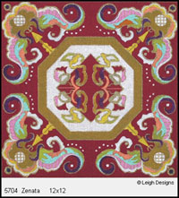 Leigh Designs - Hand-painted Needlepoint Canvases - Tangiers Collection - Zenata Canvas