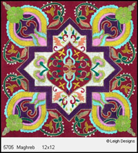 Leigh Designs - Hand-painted Needlepoint Canvases - Tangiers Collection - Maghreb Canvas