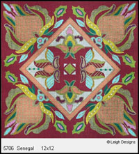 Leigh Designs - Hand-painted Needlepoint Canvases - Tangiers Collection - Senegal Canvas