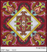 Leigh Designs - Hand-painted Needlepoint Canvases - Tangiers Collection - Niger Canvas