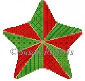 Susan Roberts Needlepoint Designs - Hand-painted Canvas - Stitchery Star