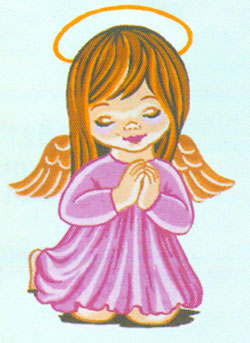 Little Angel (Girl) - Collection d'Art Needlepoint Canvas