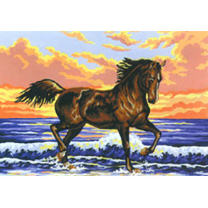 Surf Gallop  - Collection d'Art Needlepoint Canvas