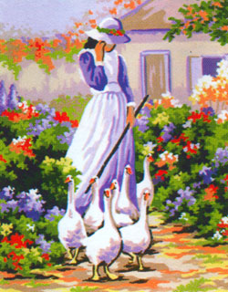 The Goose Girl  - Collection d'Art Needlepoint Canvas