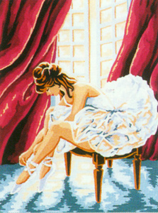 Ballerina  - Collection d'Art Needlepoint Canvas