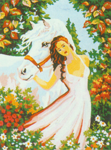 Horse Dreams  - Collection d'Art Needlepoint Canvas