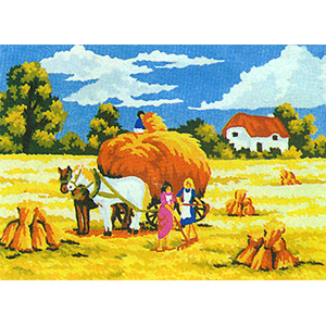 Wheat Harvest - Collection d'Art Needlepoint Canvas