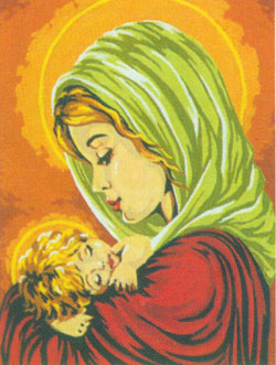 Madonna and Child  - Collection d'Art Needlepoint Canvas