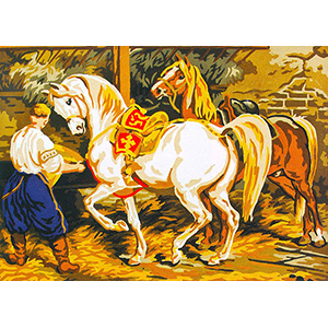 The Horses  - Collection d'Art Needlepoint Canvas