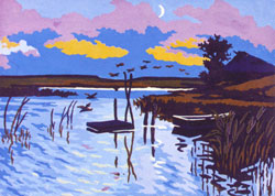 Morning on the Bayou  - Collection d'Art Needlepoint Canvas