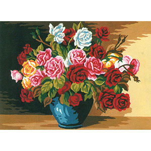 Elegant Roses  - Collection d'Art Needlepoint Canvas