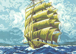 Tall Ship I  - Collection d'Art Needlepoint Canvas