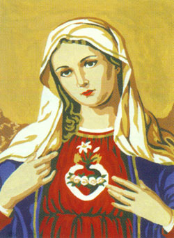 Sacred Heart  - Collection d'Art Needlepoint Canvas