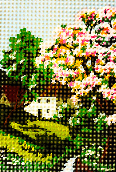 Spring on the Stream - Collection d'Art Needlepoint Canvas
