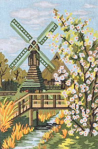 Windmill  - Collection d'Art Needlepoint Canvas