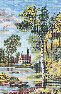 Home on the Creek  - Collection d'Art Needlepoint Canvas