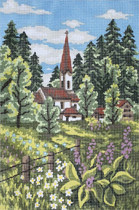 Church in the Vale  - Collection d'Art Needlepoint Canvas
