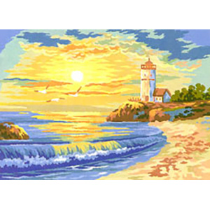 Lighthouse Morning  - Collection d'Art Needlepoint Canvas