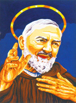 Father Pio - Collection d'Art Needlepoint Canvas