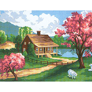 Spring I  - Collection d'Art Needlepoint Canvas