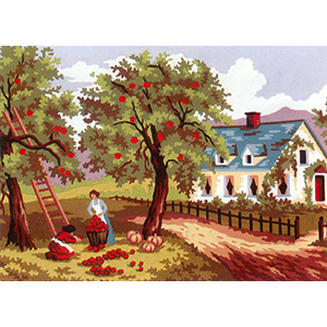 Apple Harvest  - Collection d'Art Needlepoint Canvas