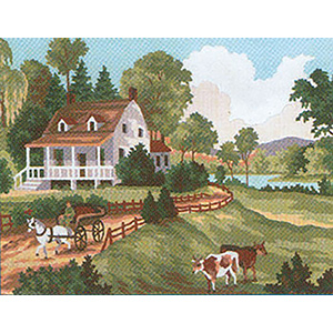 Summer I  - Collection d'Art Needlepoint Canvas