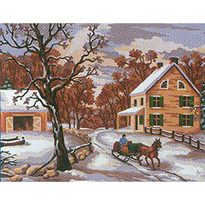 Winter I  - Collection d'Art Needlepoint Canvas