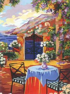 On the Terrace  - Collection d'Art Needlepoint Canvas