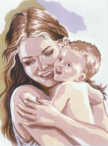 Motherhood  - Collection d'Art Needlepoint Canvas